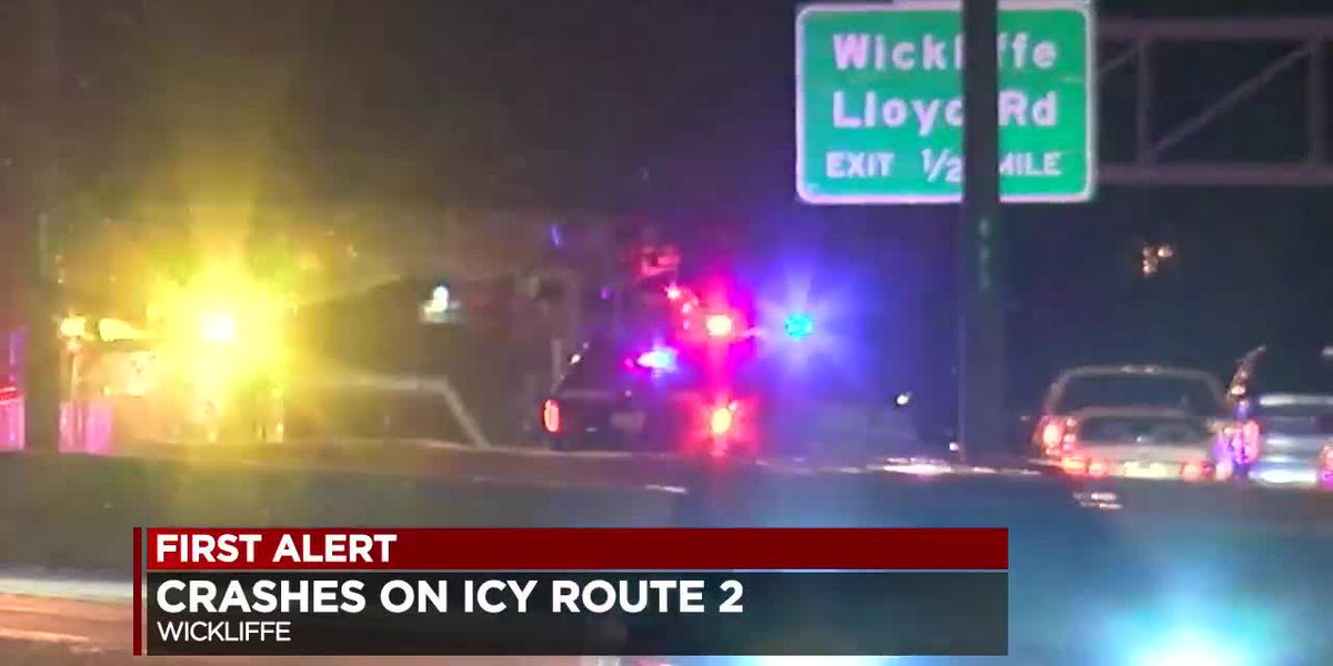 Route 2 in Lake County clearing up after icy conditions cause several accidents