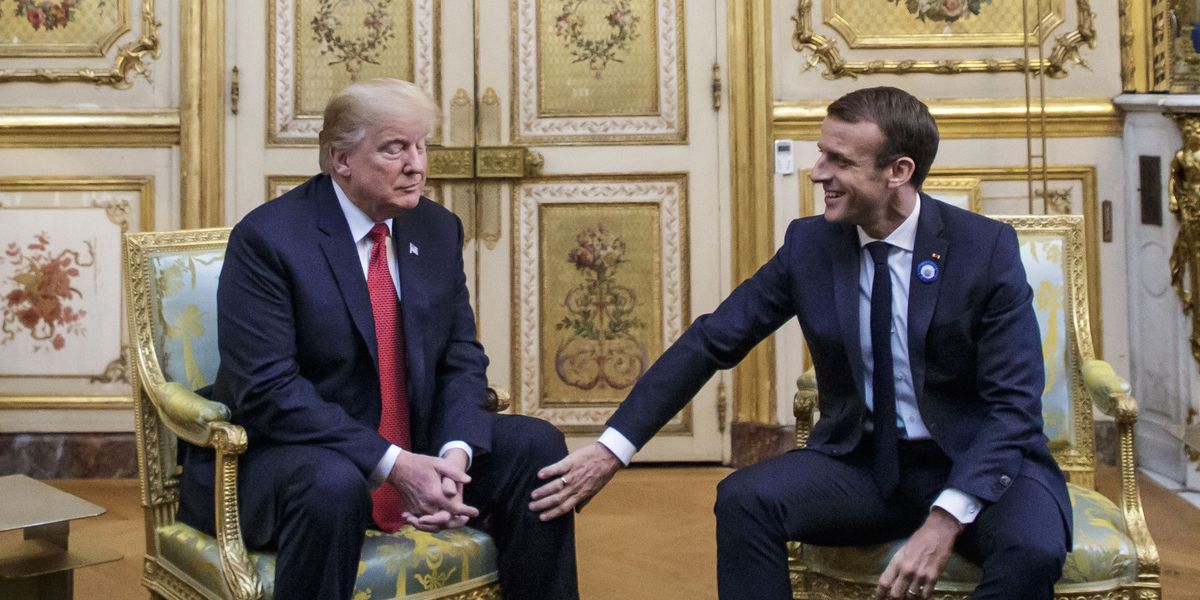 The Latest: Trump, Macron try to project unity
