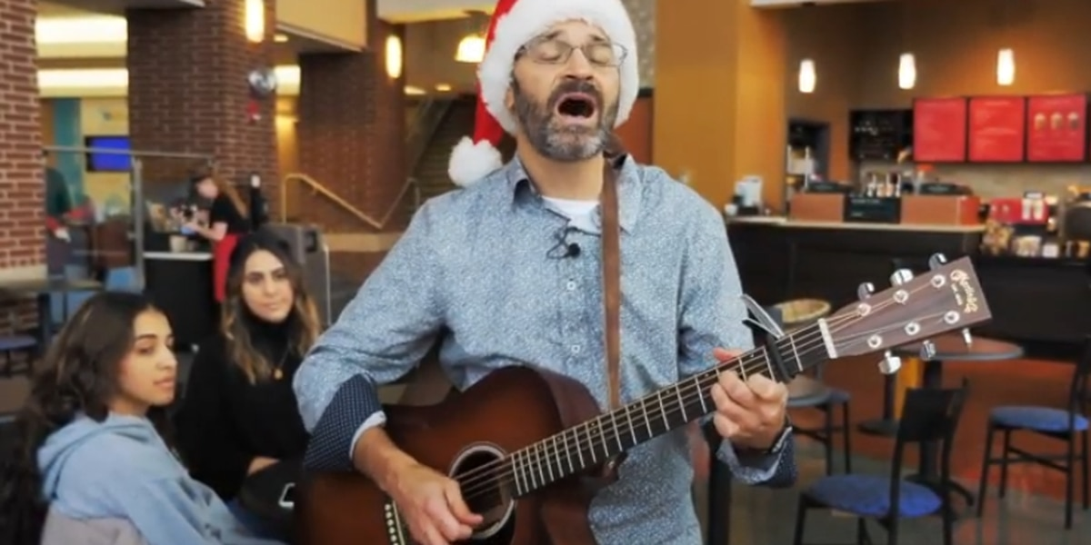 University of Akron professor performs own rendition of 'It's the most wonderful time of the year' (video)
