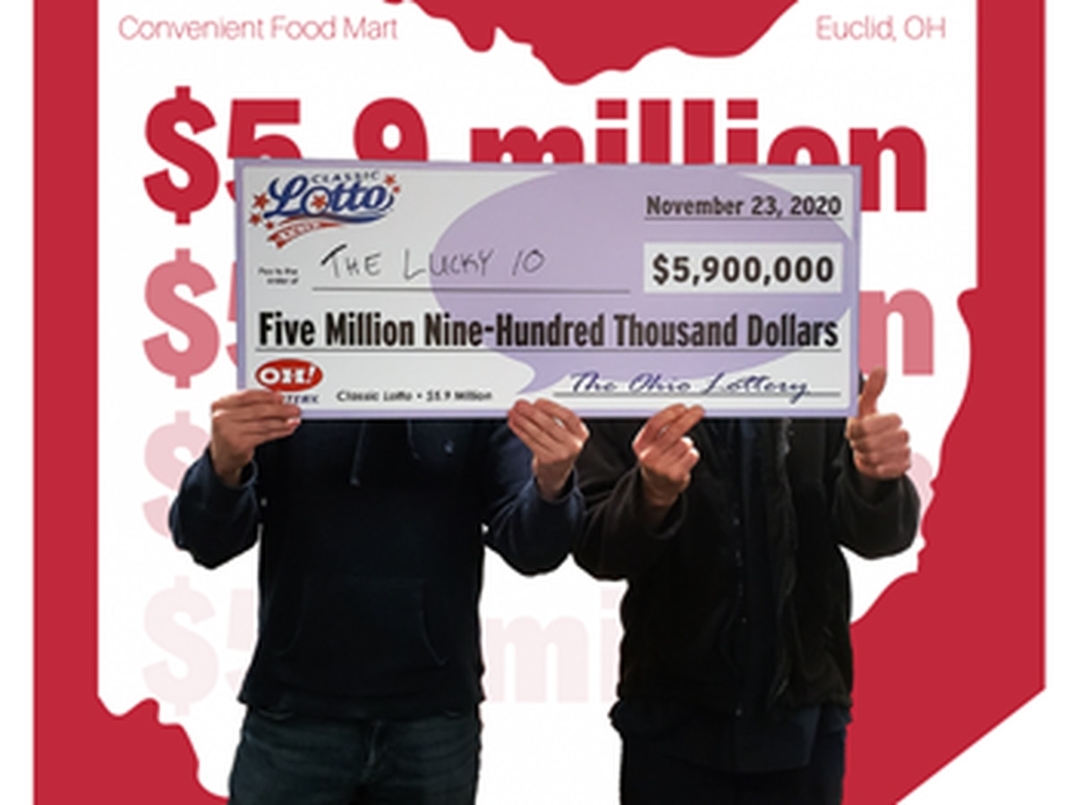 Group of 10 public workers in Ohio win $5.9 million lottery jackpot