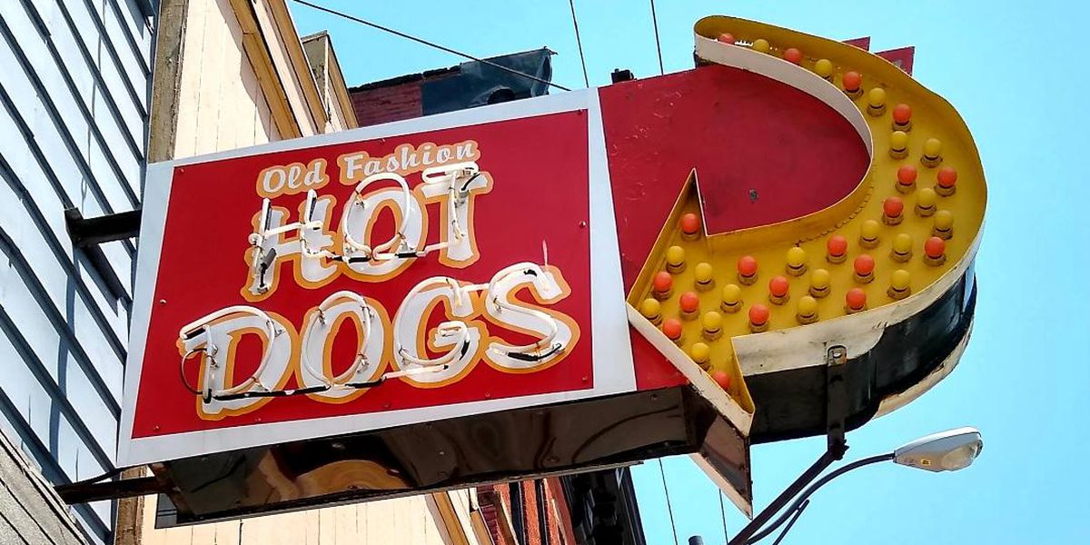 Iconic Old Fashion Hot Dog sign comes down after Cleveland business closes during COVID-19 pandemic