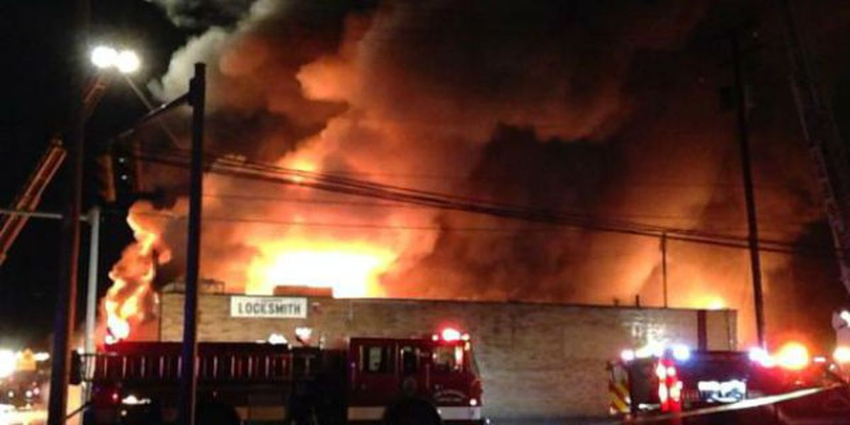 Large fire at Canton pawn shop