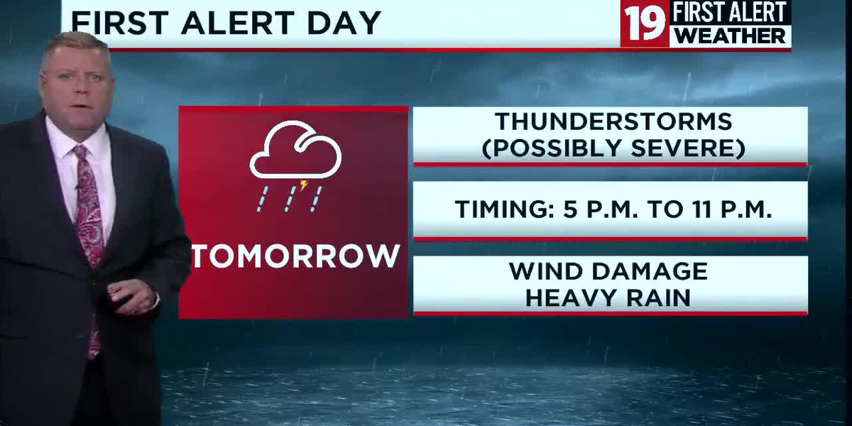 First Alert Forecast: Noticeably cooler Friday