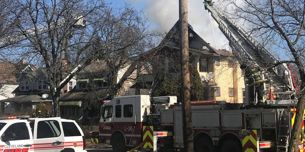 Cleveland firefighter injured while battling blaze engulfing East Side home