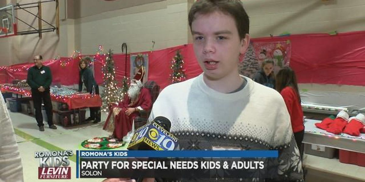 Teens support special needs youngsters at Solon Christmas celebration: Romona's Kids