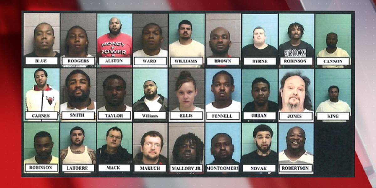 Elyria police take down 27 suspects in fentanyl, firearms bust
