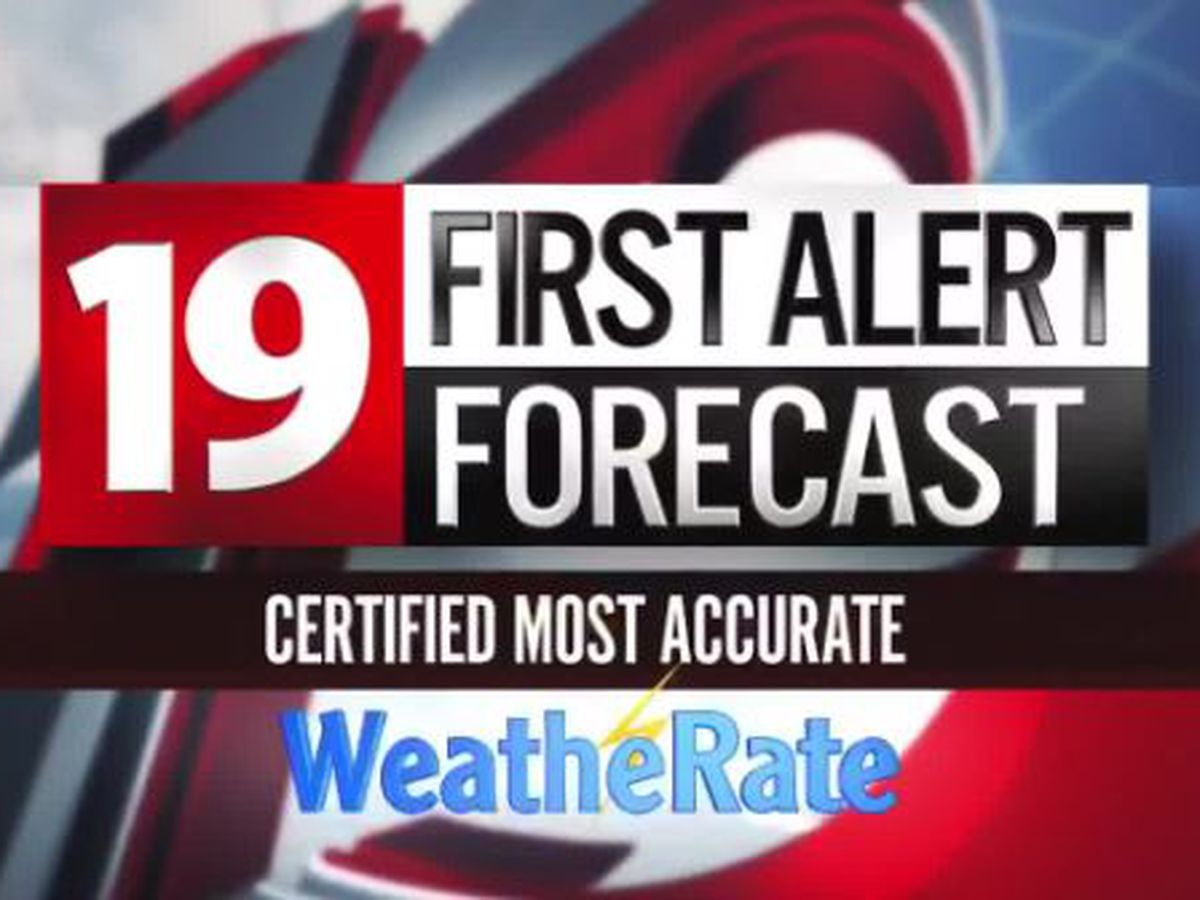 Northeast Ohio: High temperatures will push near 90° again today