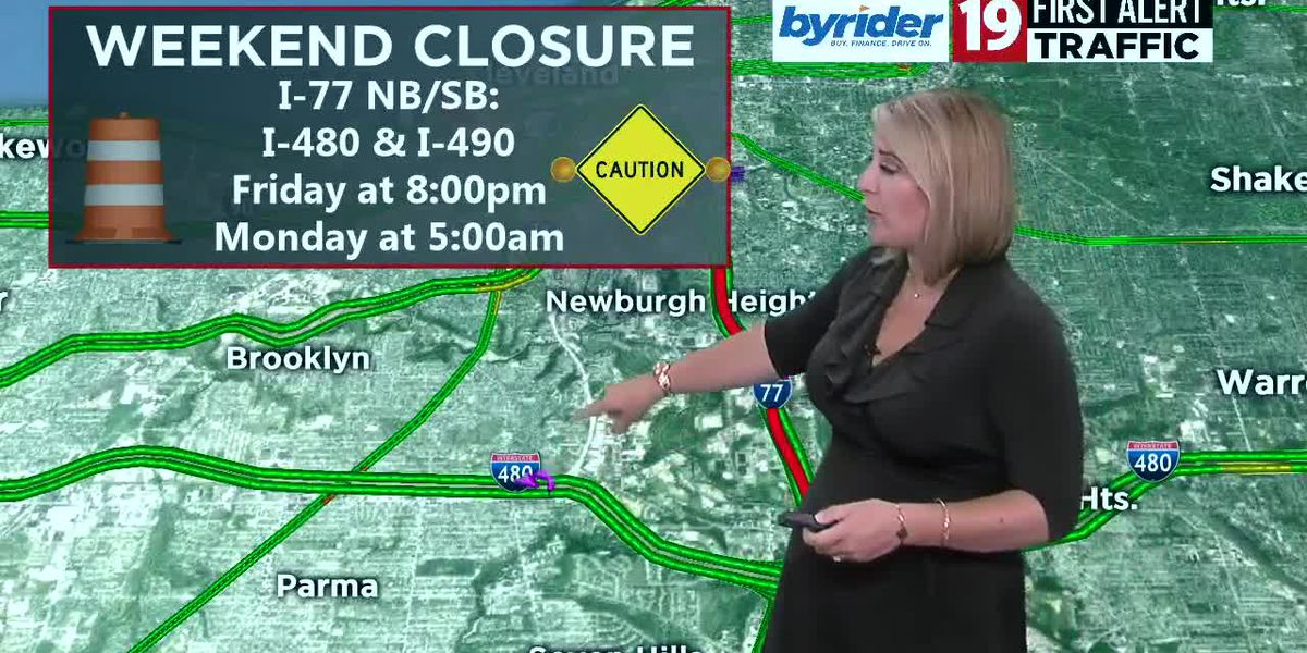 I-77 closes for construction over the weekend