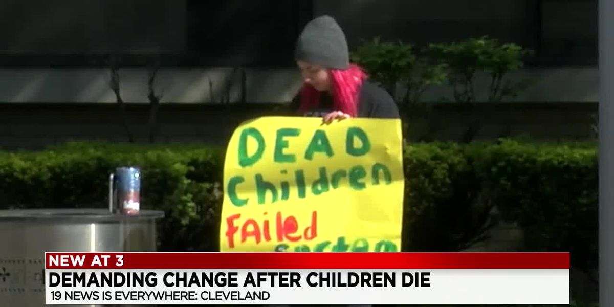 Cleveland protestors demand changes be made to Department of Children and Family Services