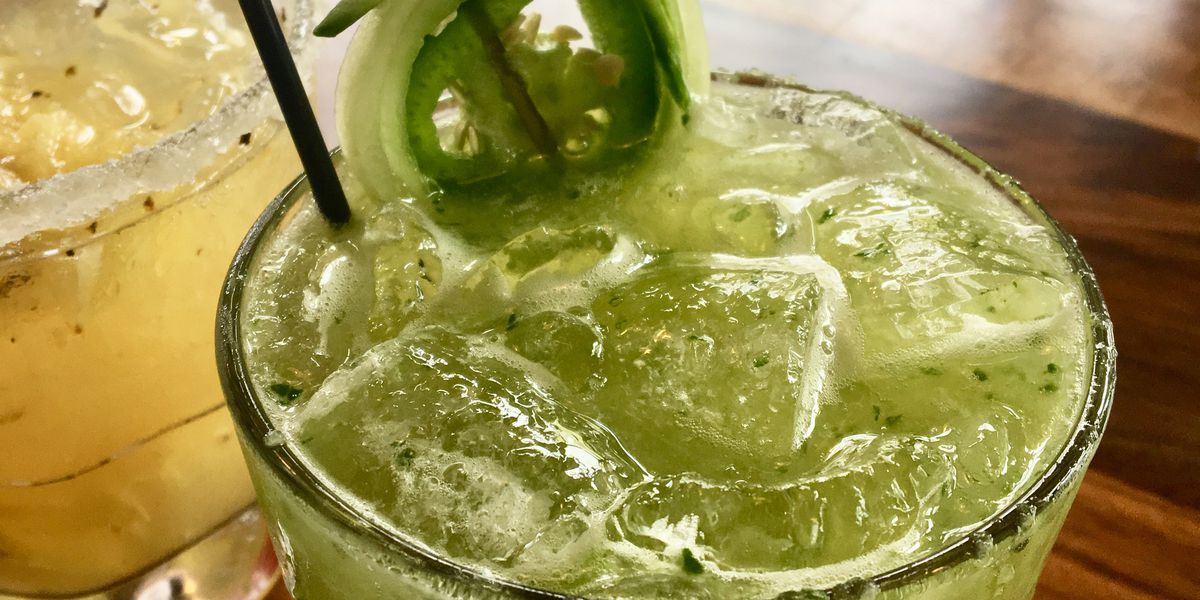 It's a cucumber jalapeno margarita for Cinco de Mayo!