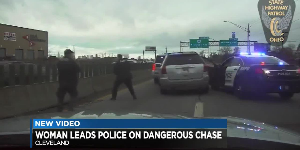 Wild police chase on 77 ends on east side of Cleveland