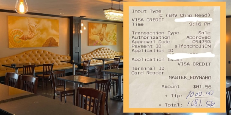 Small business owner gifts Kent restaurant staff with $1,000 tip on busy night