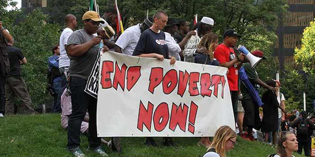 SLIDESHOW: 'End Poverty Now' protest ends peacefully at Perk Plaza