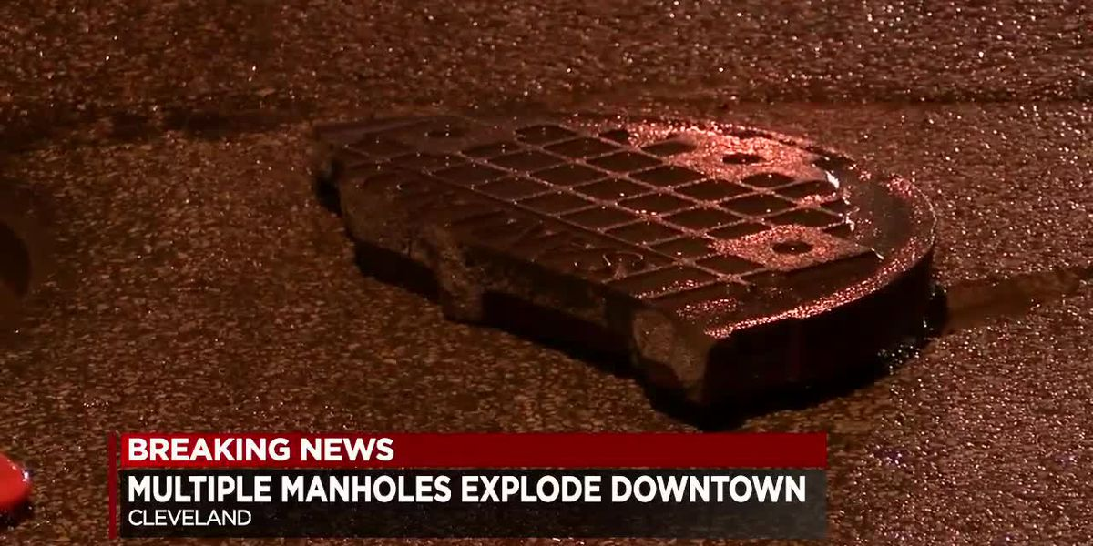 Manhole covers explode off streets across Cleveland