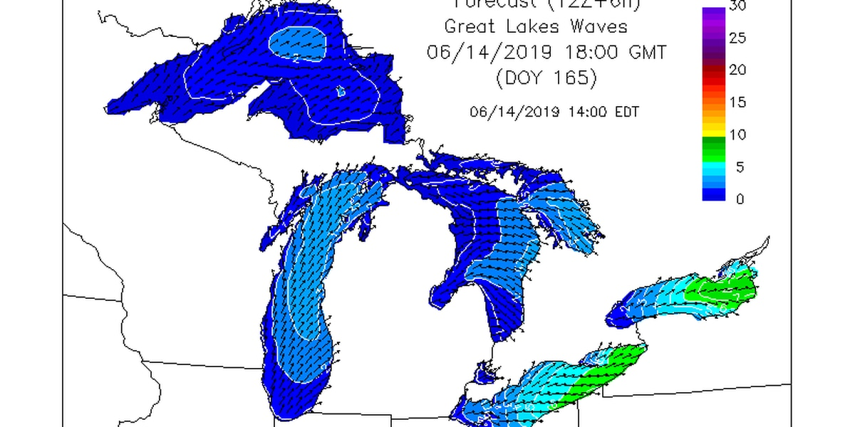 Waves nearing 10 feet possible in Lake Erie on Friday and Saturday, NWS warns