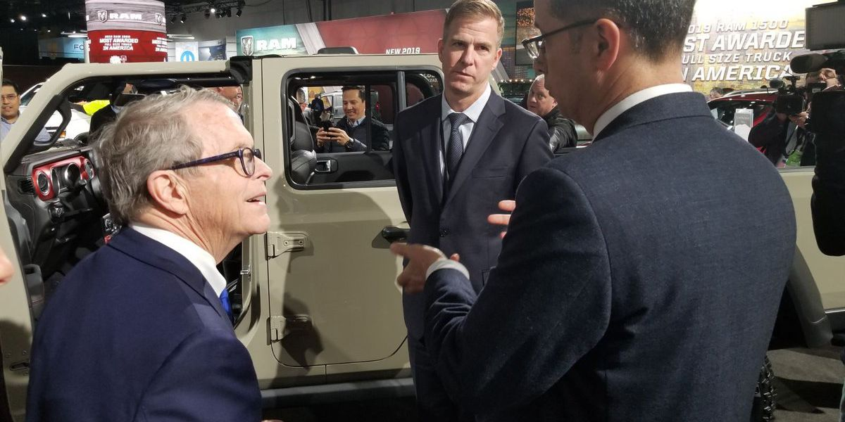 Ohio Gov. Mike DeWine to speak in Akron after meeting with CEO of GM