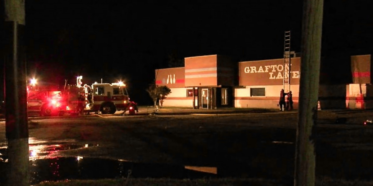 Grafton Bowling Center goes up in flames, crews investigating cause of fire