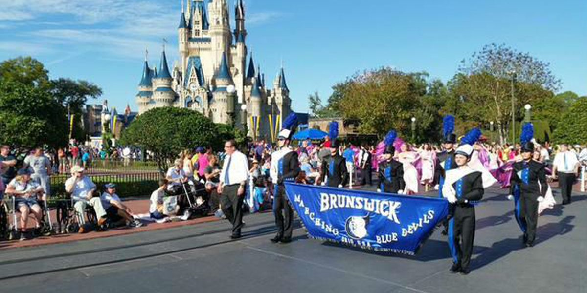 Brunswick Marching Band in Florida Citrus Parade
