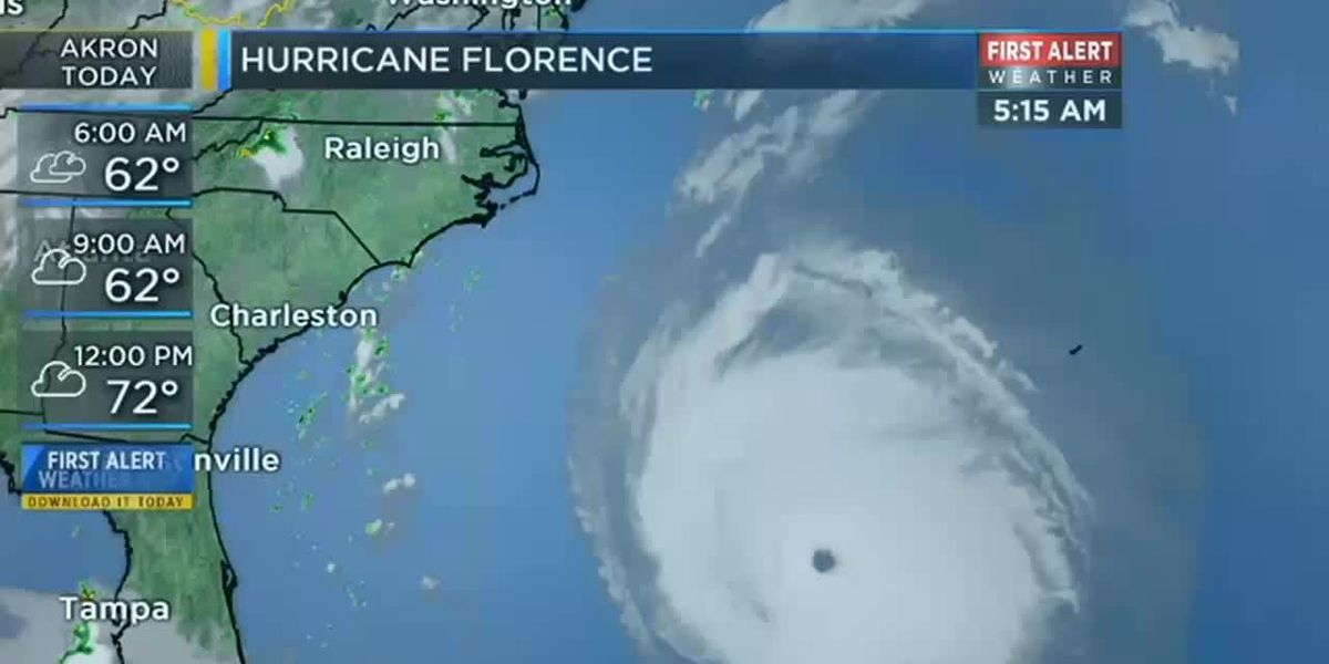 Hurricane Florence begins battering the Carolinas
