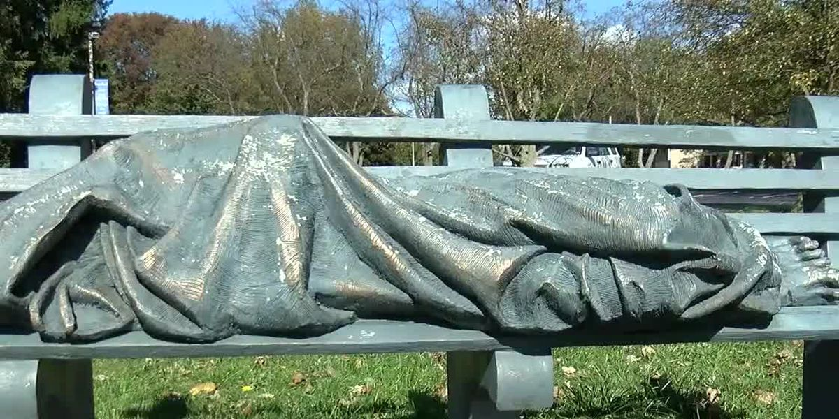 Bay Village church puts up 'Homeless Jesus' statue and someone calls the cops 20 minutes later