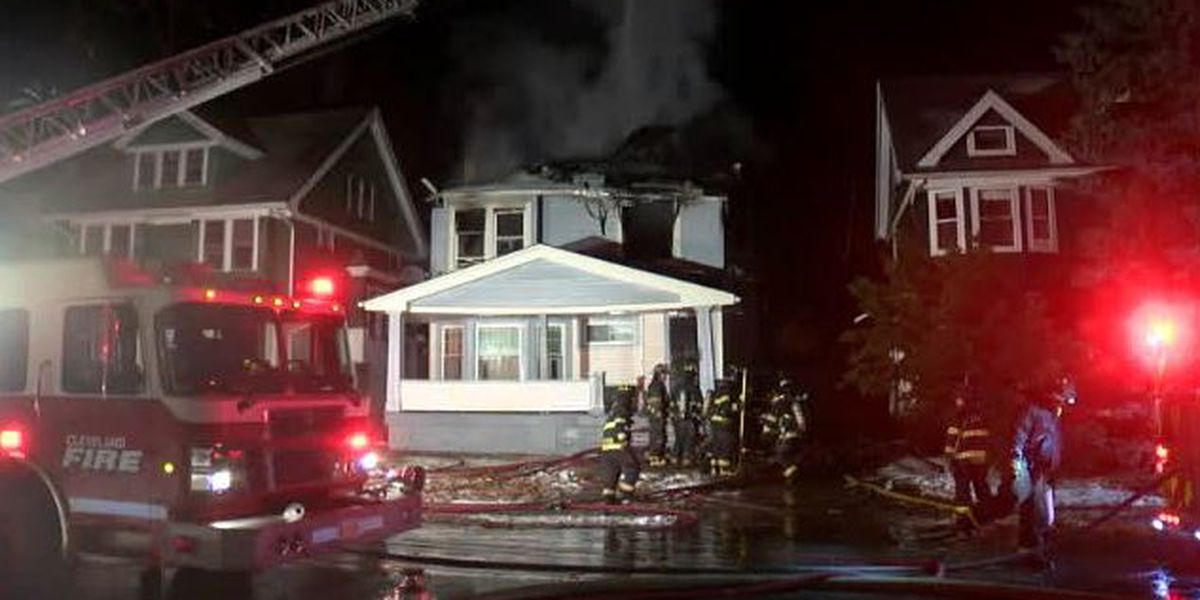 Cleveland firefighter injured as crews work to douse early morning blaze