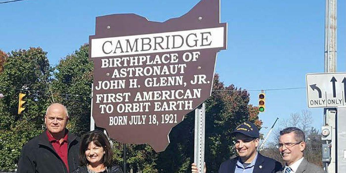 John Glenn's Ohio birthplace places historic marker