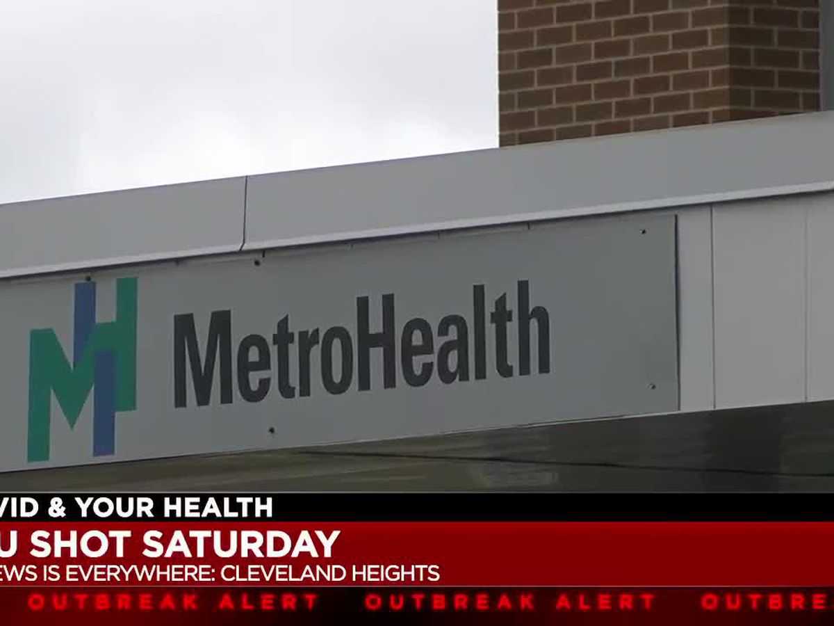 Drive-thru flu shots given at MetroHealth in Cleveland Heights