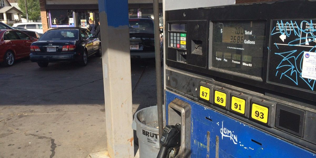 Man shot pumping gas, car stolen on west side