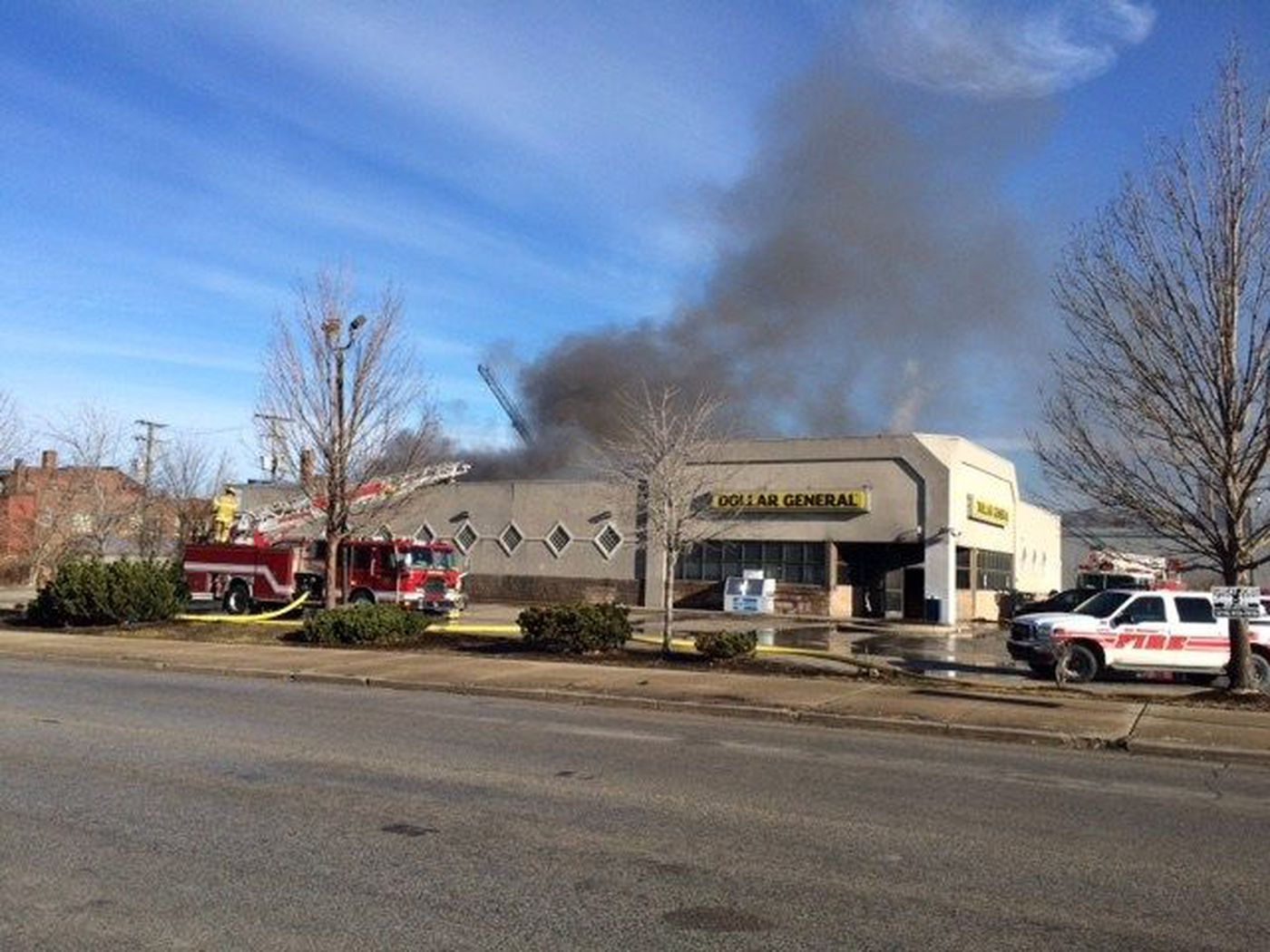 East Cleveland firefighters battling blaze at dollar store