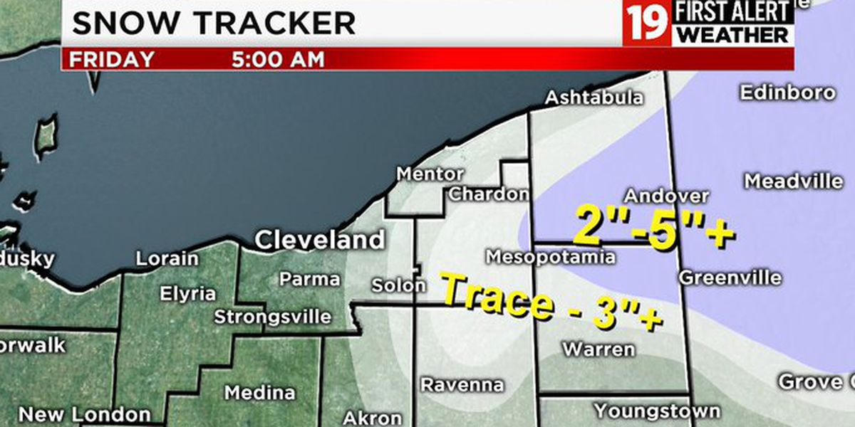 Plummeting temperatures bring lake effect snow, gust winds on Thursday
