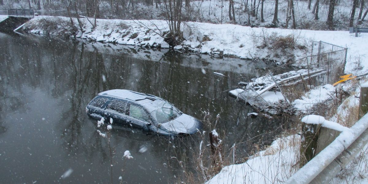 Stark County mother questions safety of guardrails after her son slid off the road
