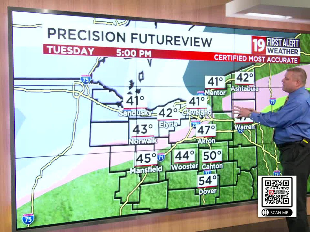 Several inches of snow expected by Wednesday morning after April snowstorm tonight in Cleveland: 19 First Alert Weather