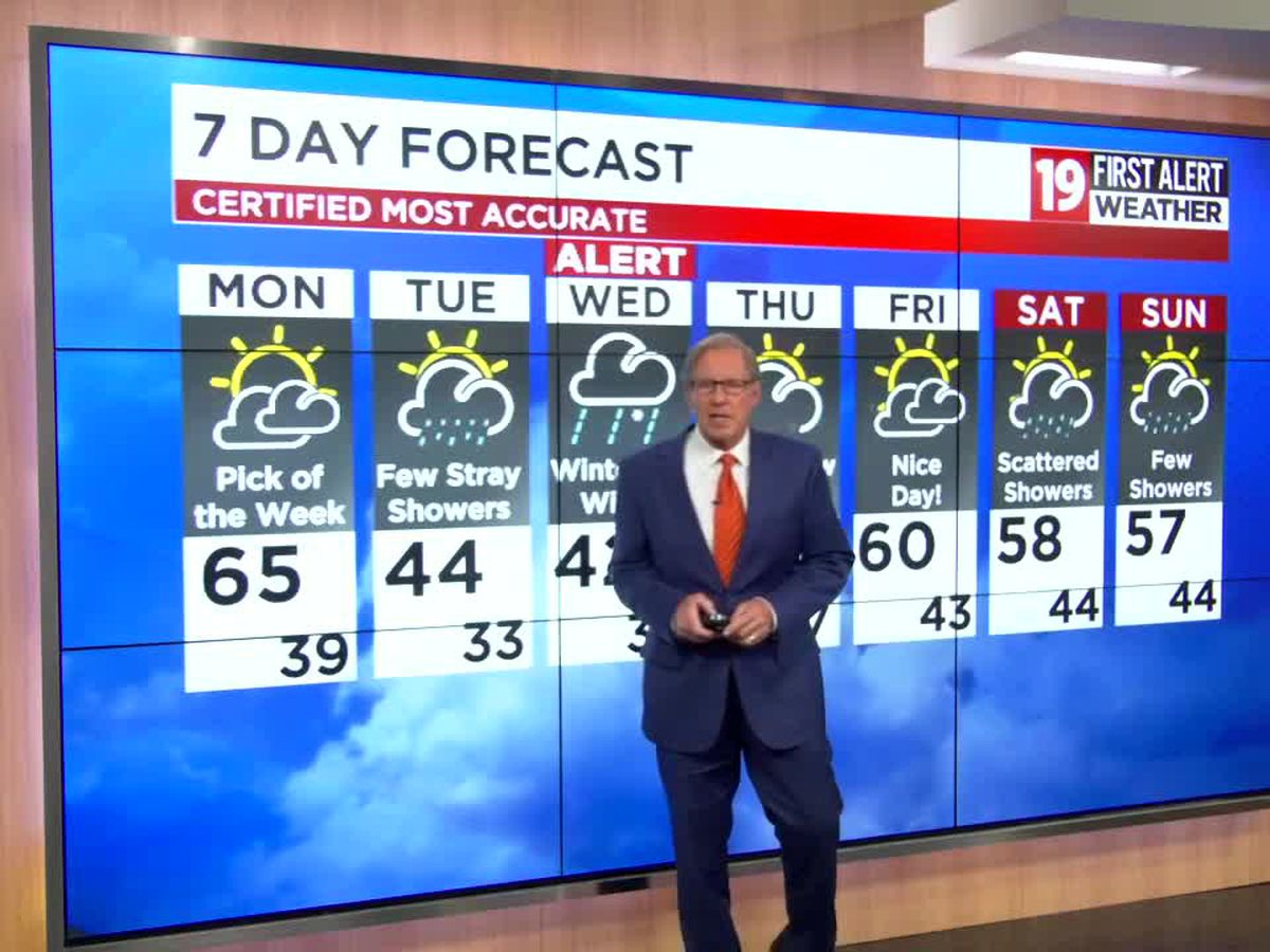 19 First Alert Weather: Snow returns Wednesday with up to 3 inches possible