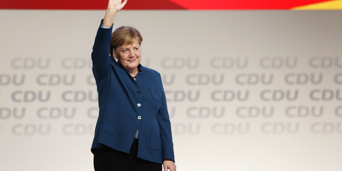 The Latest: Merkel ally elected leader of chancellor's party