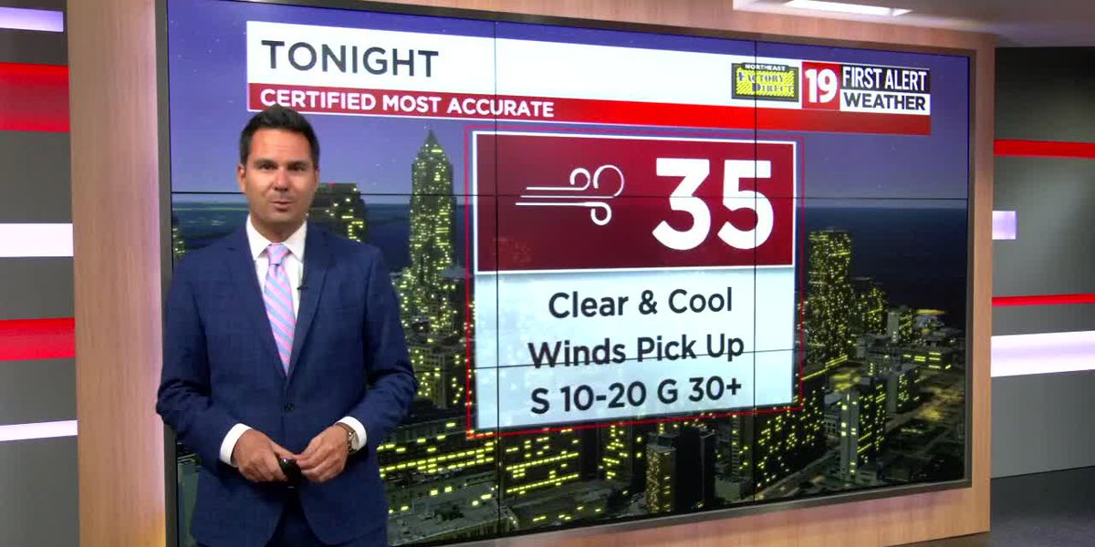 Northeast Ohio weather: Wind Advisory issued for Thursday, 45 mph winds may occur