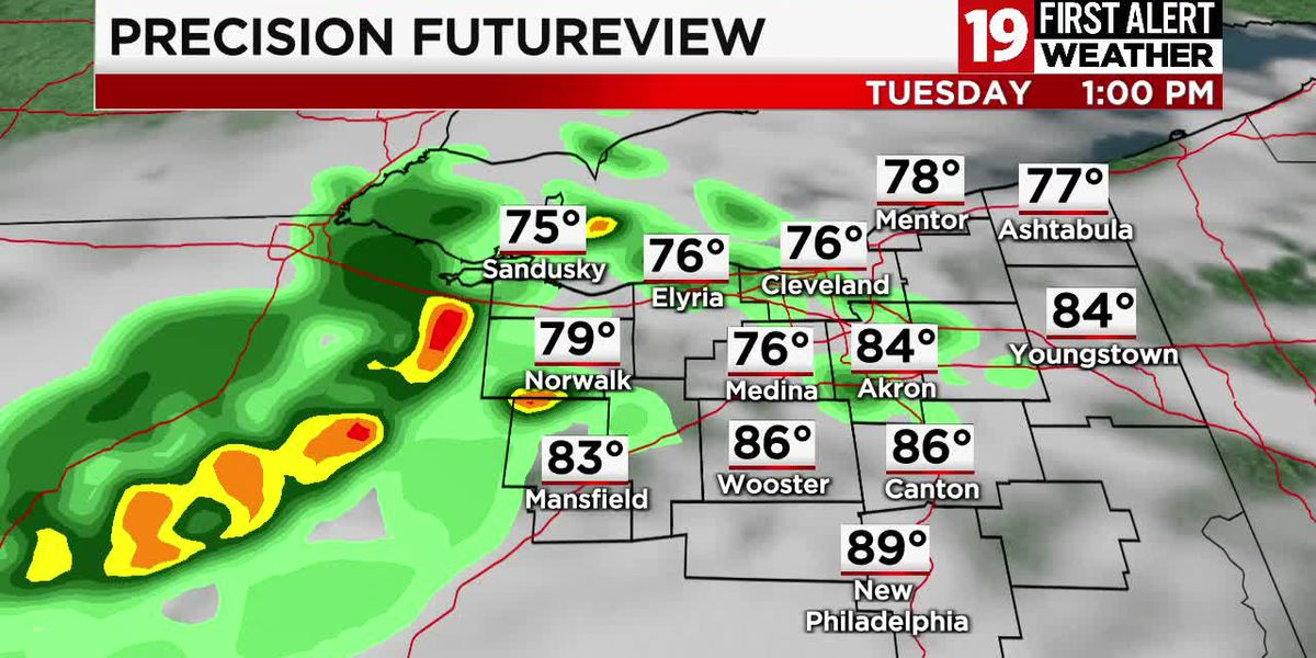 Northeast Ohio weather: Unsettled weather returns this week, hot and humid through Thursday