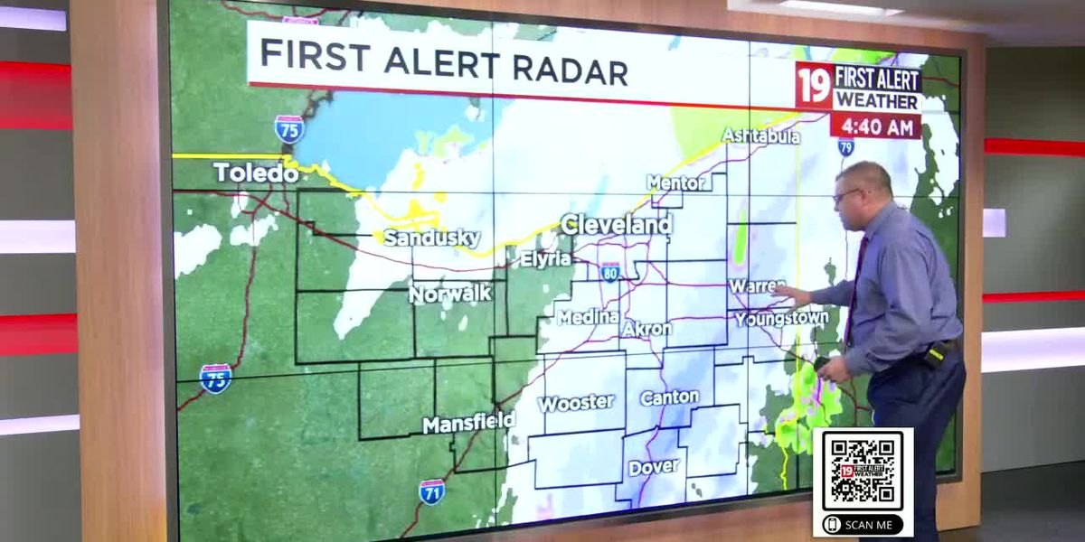 Northeast Ohio weather: Light lake effect snow overnight, rain returns on Saturday