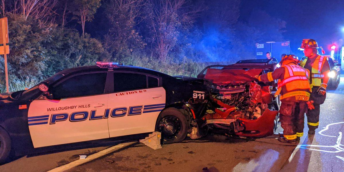 Willoughby Hills K-9 taken to emergency vet after suspected drunk driver crashes into his cruiser