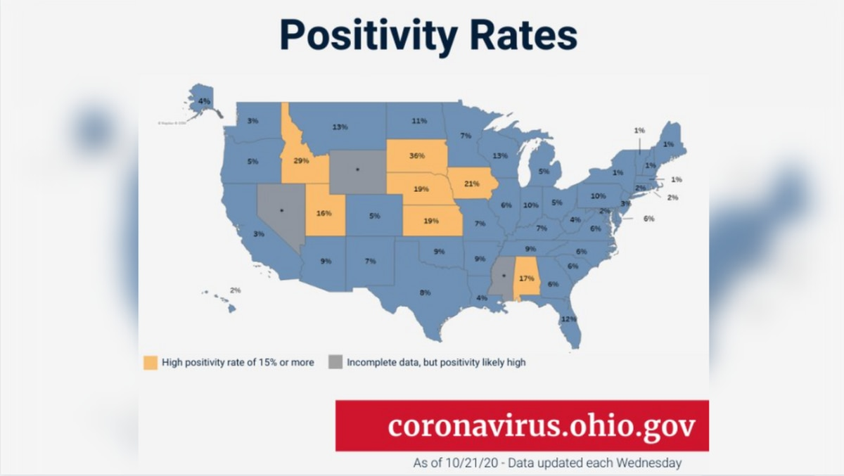 Ohio Department Of Health Issues Covid 19 Travel Advisory For 7 States