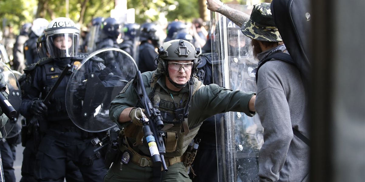 ACLU sues over police force on protesters near White House