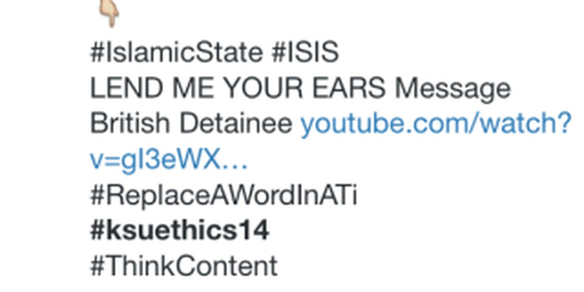 ISIS tweets Kent State journalism students