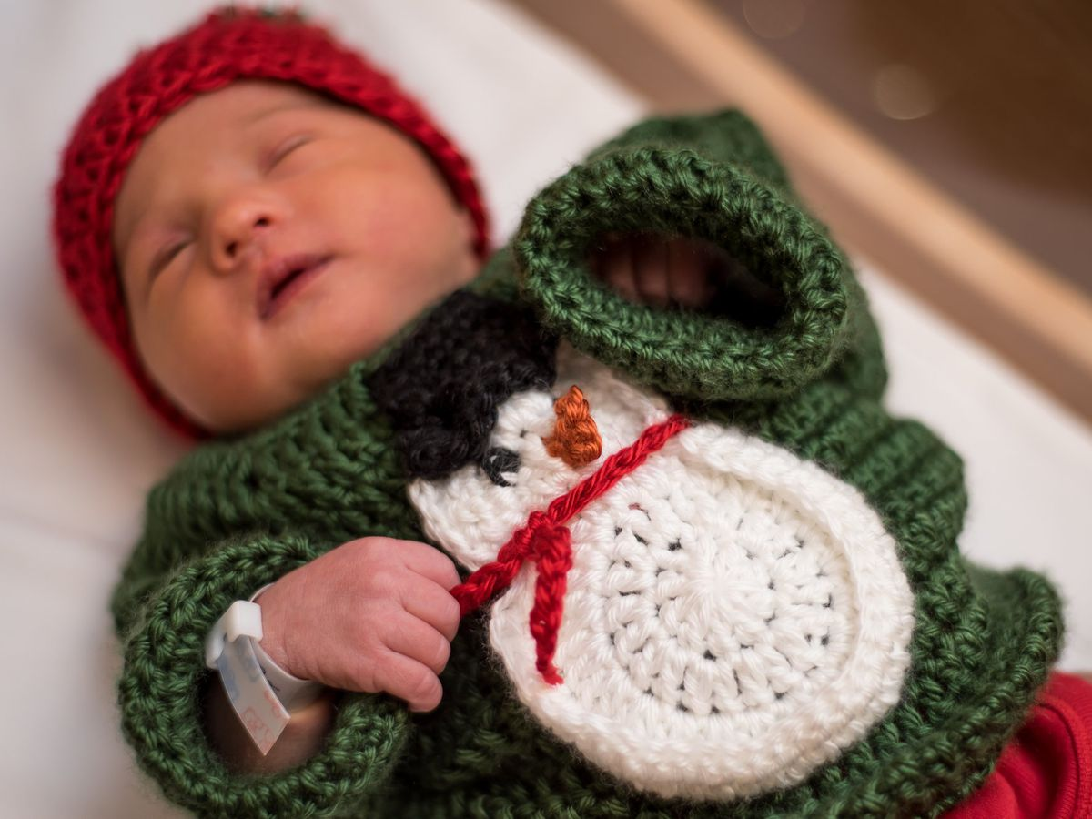 Cute babies dressed in ugly sweaters for the holidays at PA hospital
