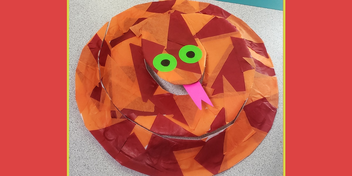 Family Craft time! How to make a Plate Snake