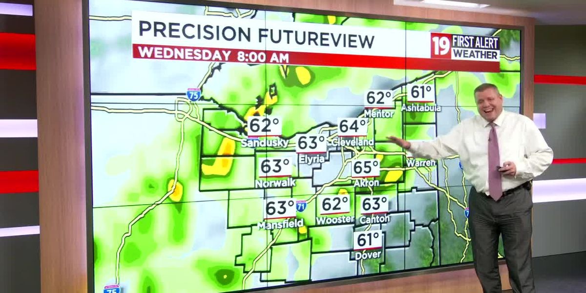 Northeast Ohio weather: Warmer evening with a few storms overnight