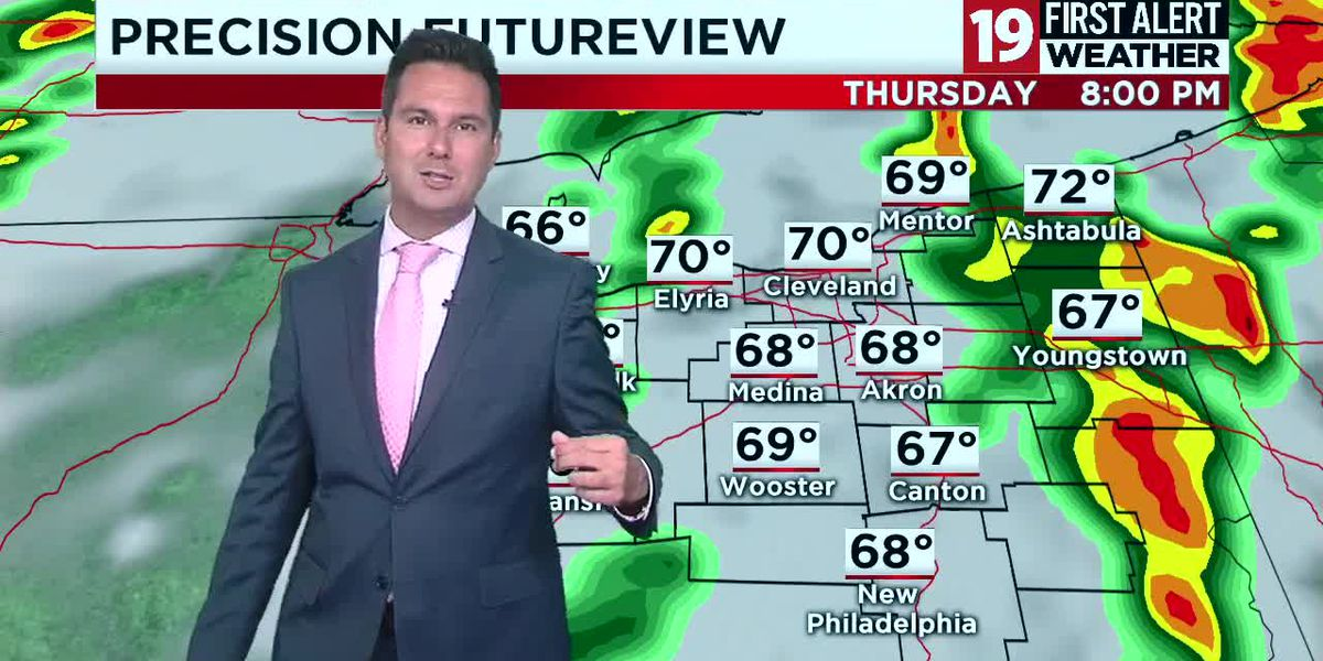 19 First Alert Weather Day: Heavy rain with thunder, gusty winds coming to Cleveland area Thursday
