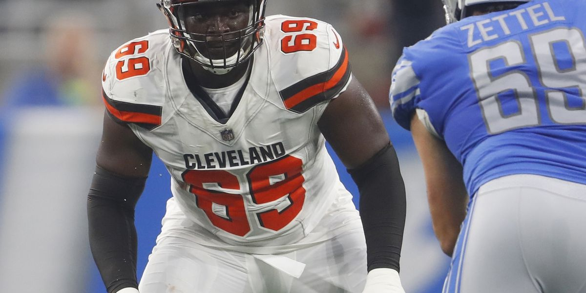 Cleveland Browns release OT Desmond Harrison after he missed flight to practice