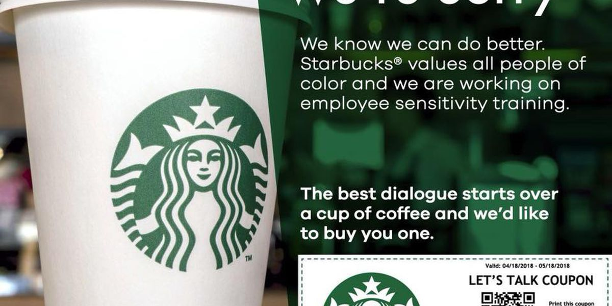 starbucks coffee coupon for people of african american heritage is