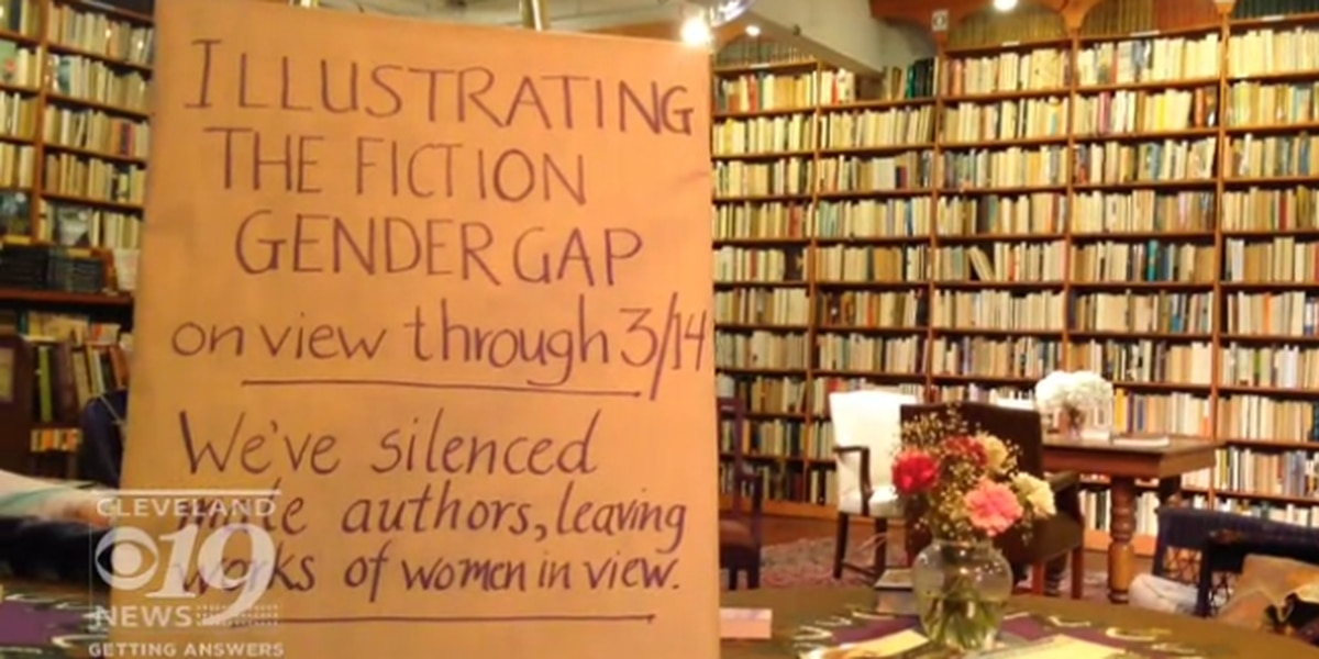 This area bookstore just turned every male-written book backward for Women's History Month