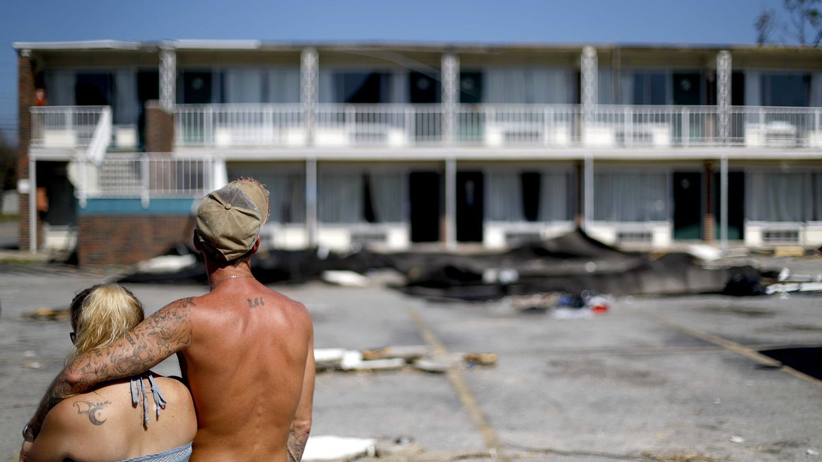Powerless victims of Hurricane Michael now suffer looting