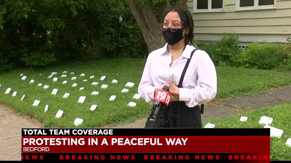 Bedford teen creates her own peaceful protest at home